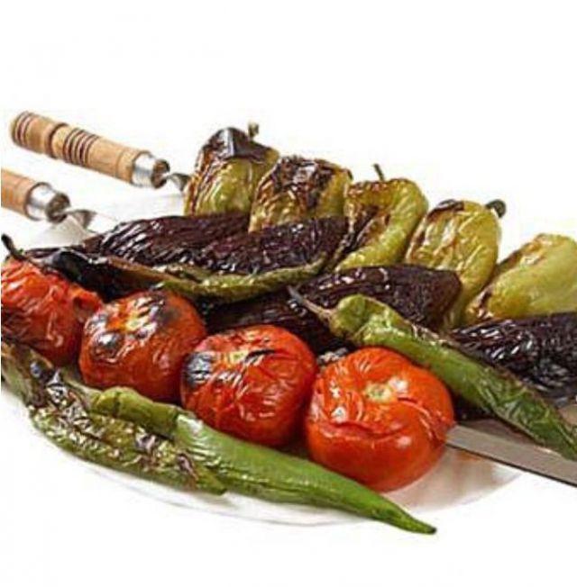 Овощи запеченные на углях